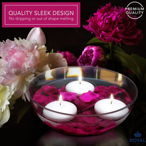 Floating Candles Unscented Discs for Wedding, Pool Party, Holiday & Home Decor