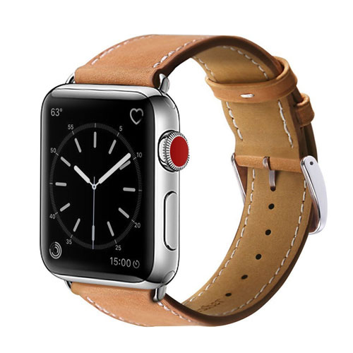MARGE PLUS For Apple Watch Band, 42mm Genuine Leather iwatch Strap Replacement Band