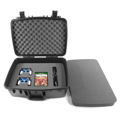 CASEMATIX Waterproof Impact Absorbing Video Game Console Travel Carry Case