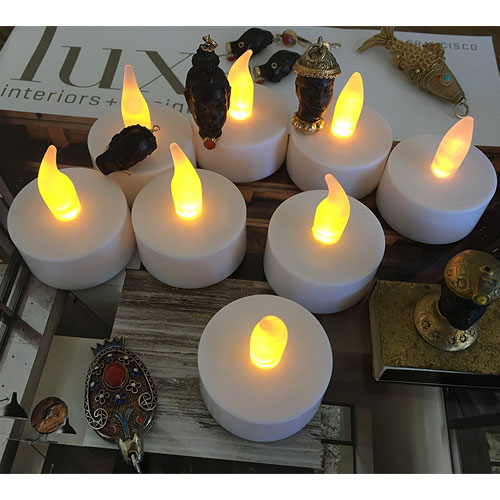 Flameless LED Tea Light Candles, Vivii Battery-powered Unscented LED Tealight Candles