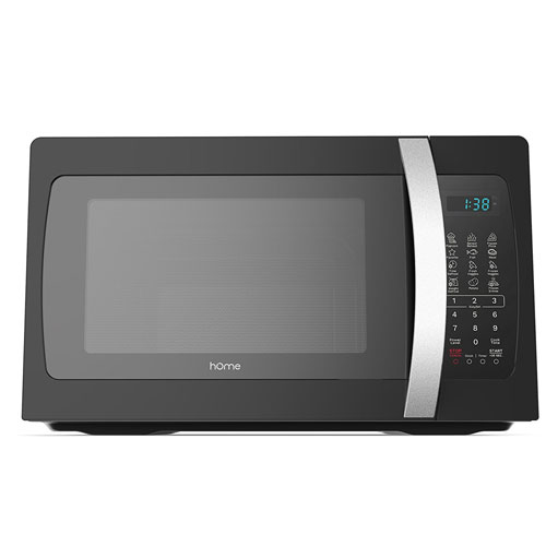 hOmeLabs 1050 watt Countertop Microwave Oven with Accessories - Black Stainless Steel Microwave Cooker
