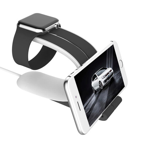 CHEEDAY Apple Watch Stand, iPhone Stand And iWatch Charging Dock Holder Station
