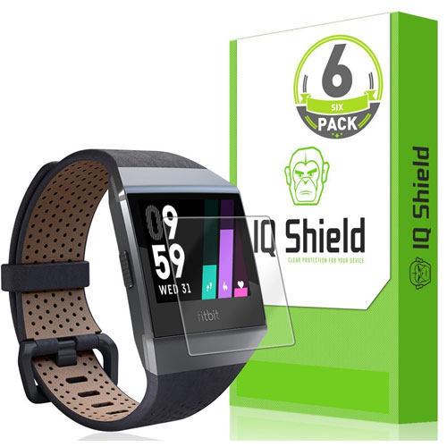 Fitbit Ionic Screen Protector (6-Pack), IQ Shield LiquidSkin Full Coverage Screen Protector