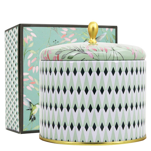 Aromatherapy Scented Candles 14Oz White Tea Large Tin Candle 2 Wicks Natural Wax