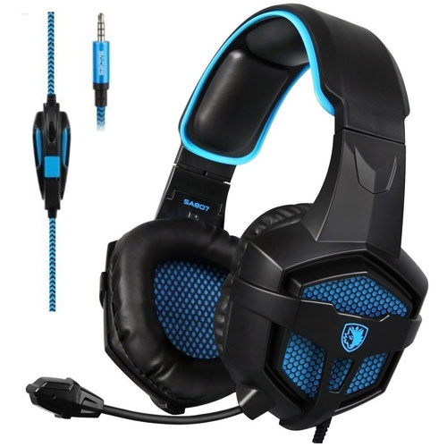 Sades SA-807 Stereo Gaming Headset Headphones 3.5mm Wired Over-Ear Headset