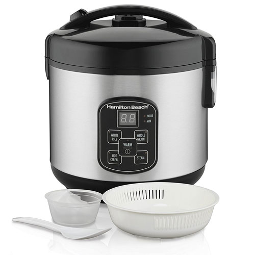 Hamilton Beach Rice & Hot Cereal Cooker, 4-Cups uncooked resulting in 8-Cups
