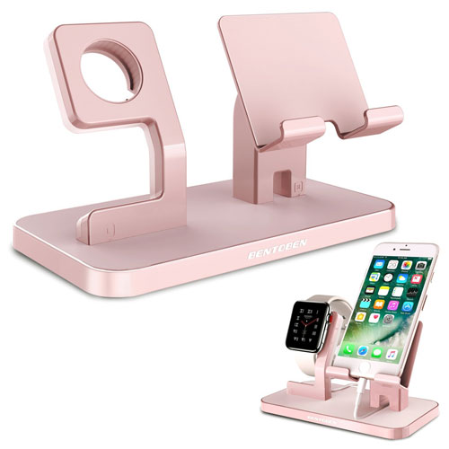 Apple Watch Stand, iPhone Stand, BENTOBEN Iwatch Charging Stand Dock Station Cradle