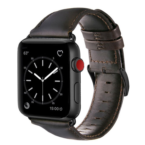 For Apple Watch Band 42mm, OUHENG Retro Vintage Genuine Leather iWatch Strap