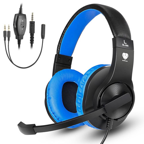 Greatever Stereo Gaming Headset for PS4 Xbox One, Professional 3.5mm Bass Over-Ear Headphones