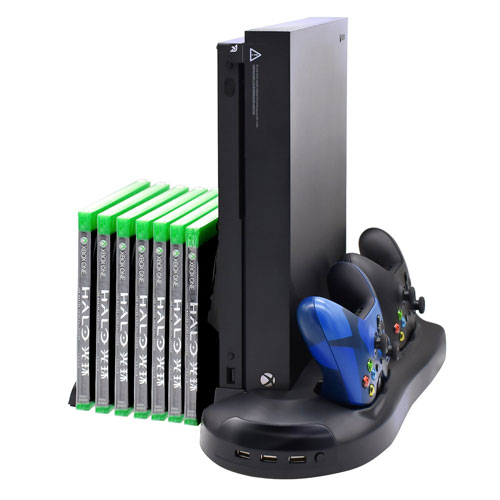 FastSnail Xbox One X Vertical Stand Cooling Fan Controller Charging Station for Xbox One X