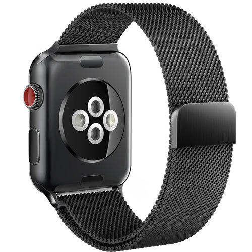 Apple Watch Band 42mm Milanese Loop for iWatch Bands Black Color