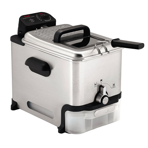 T-fal FR8000 Oil Filtration Ultimate EZ Clean Easy to clean 3.5-Liter Fry Basket Stainless Steel Immersion Deep Fryer