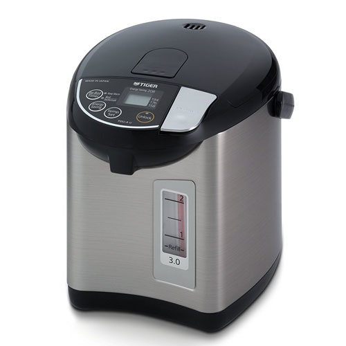 Tiger PDU-A30U-K Electric Water Boiler and Warmer, Stainless Black, 3.0-Liter
