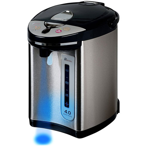 Secura Electric Water Boiler and Warmer Electric Hot Pot Kettle 18/10 Stainless Steel Interior WK63-M2