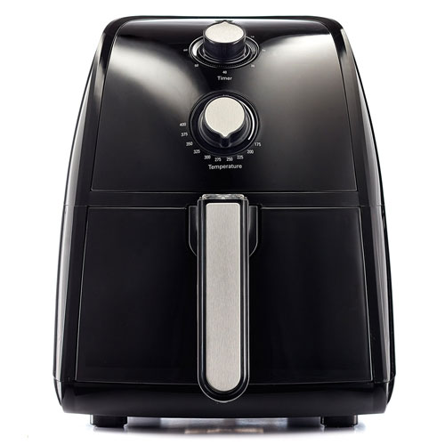 BELLA TXG-DS14-14538 Electric Hot Air Fryer with Removable Dishwasher Safe Basket, 2.5 L, Black