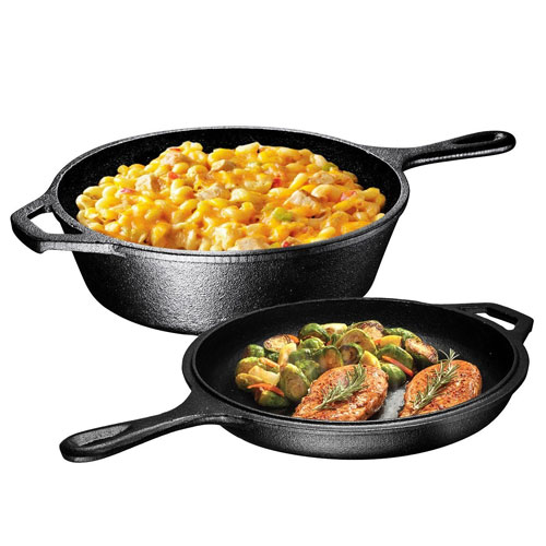 Induction Bottom Aluminum Nonstick Frying-Pan Grey Fry Pan - 11 inches Dishwasher Safe Cookware - by Utopia Kitchen