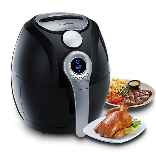 Electric Air Fryer, Blusmart Power Air Frying Technology with Temperature and Time Control LED Display Fry Basket