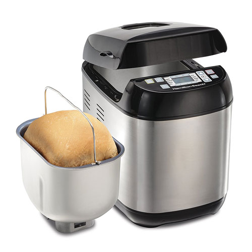 Hamilton Beach 29885 Bread Maker Beach 14 Programmed Cycles, Black