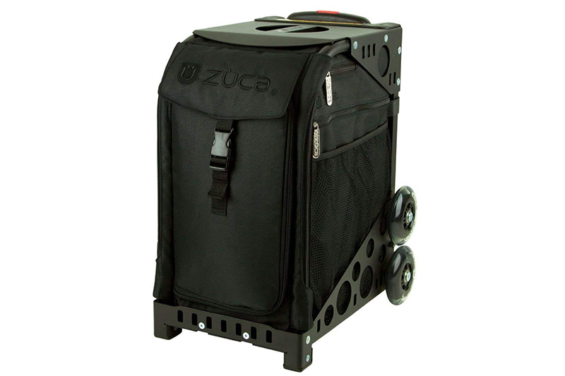 ZUCA Sport Artist - Stealth Sport Insert Bag with Black Frame Flashing Wheelset with 4 Large Utility Pouches