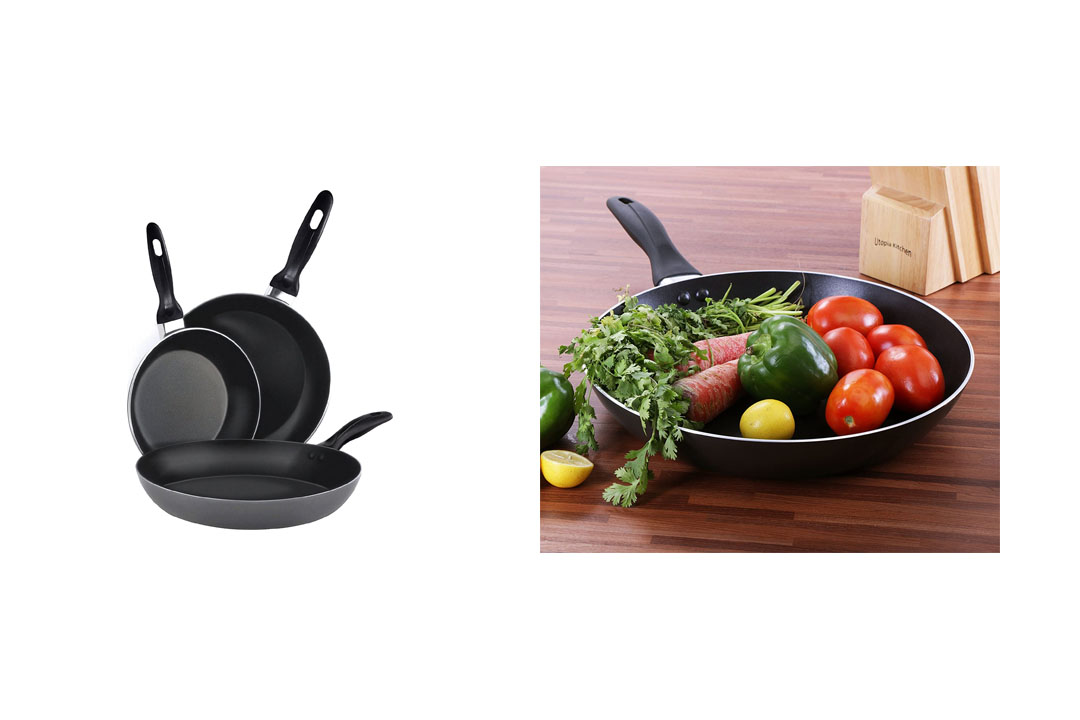 Aluminum Nonstick Frying Pan Set Fry Pan / Frying pan Cookware Set, Dishwasher Safe - by Utopia Kitchen