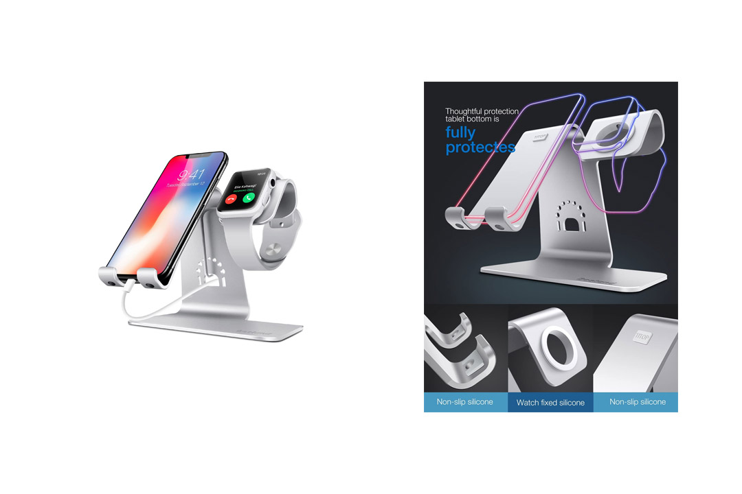 Bestand 2 in 1 Apple iwatch Charging Stand Holder& Phone Desktop Tablet Dock