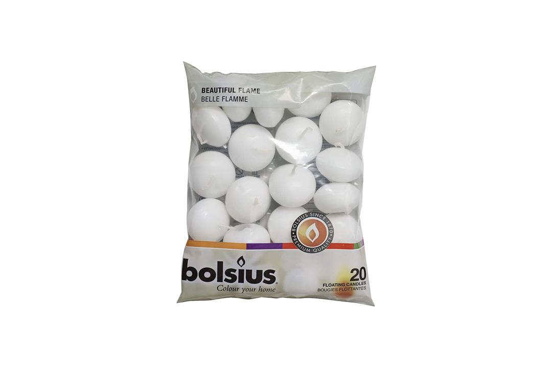 Bolsius Pack of 20 White Floating Candles 1.3/4 Inch