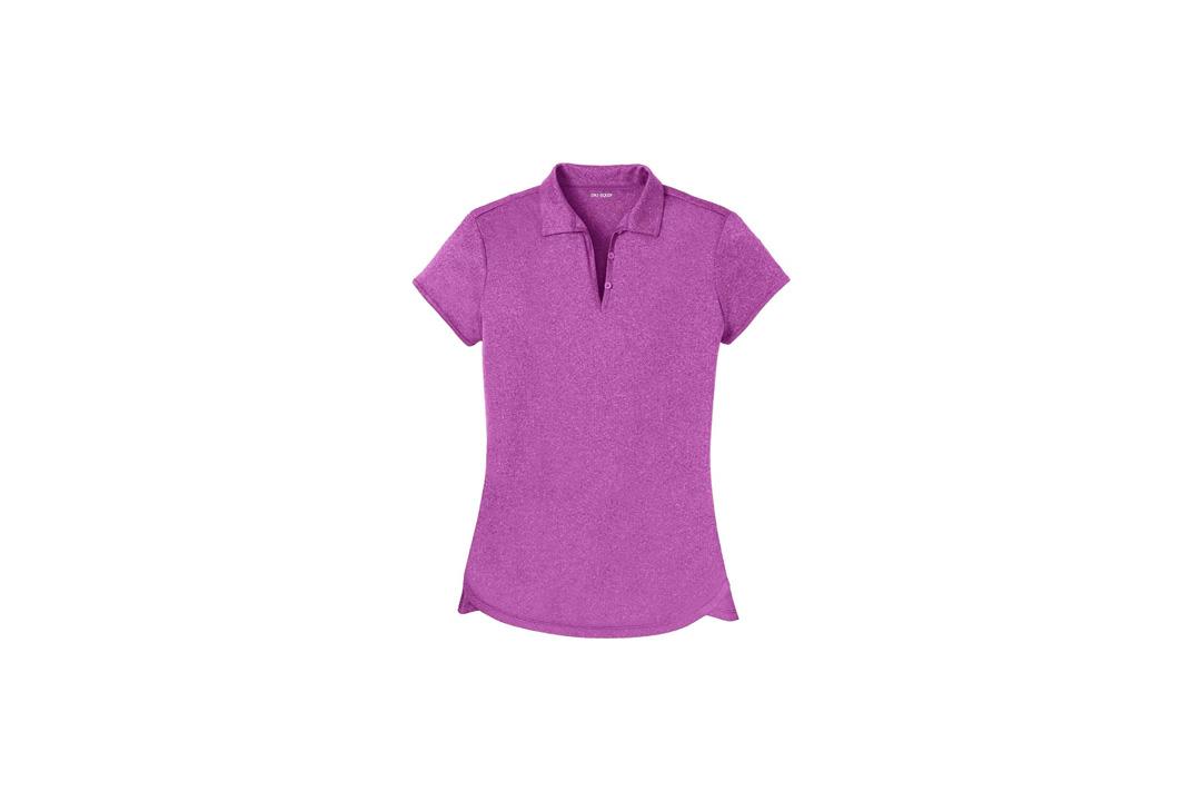DRI-EQUIP Ladies Moisture Wicking Heather Golf Polos