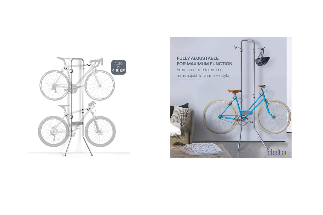 Delta Cycle Michelangelo Two-Bike Gravity Stand Storage Rack