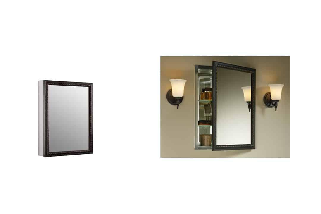 Kohler K-2967-BR1 Aluminum Cabinet with Oil-Rubbed Bronze Framed Mirror Door