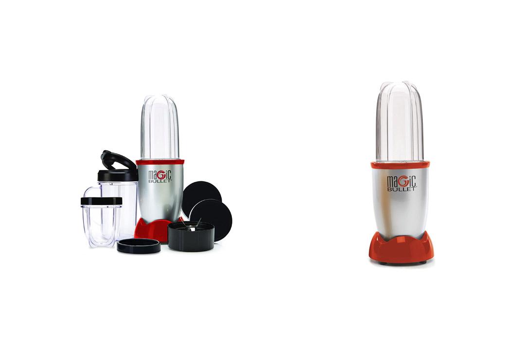 Magic Bullet Blender, Small, Silver, 11 Piece Set