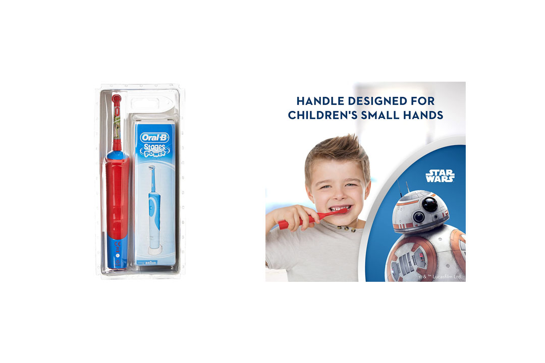 Oral-B Pro-Health Disney Star Wars Battery Power Electric Toothbrush for Kids, Characters/Color May Vary (for children age 3+)