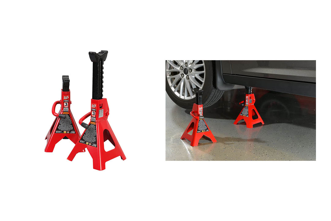 Torin Big Red Steel Jack Stands: 3 Ton Capacity, 1 Pair