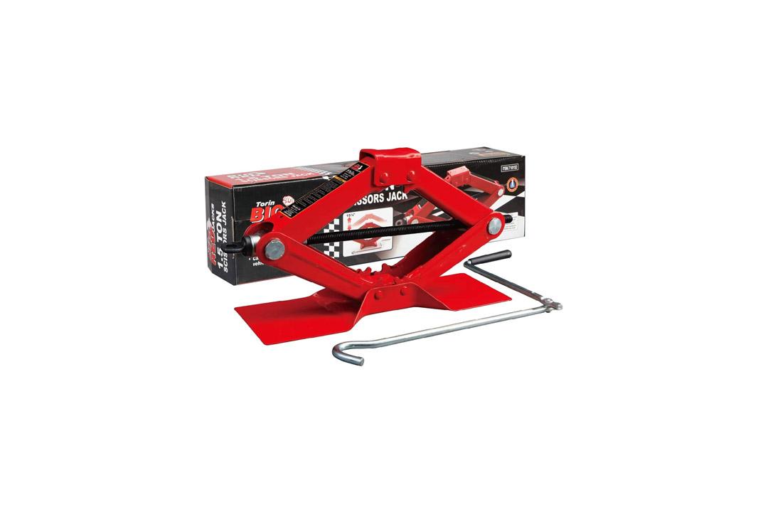 Torin Big Red T10152 Steel Scissor Jack, 1.5 Ton (3000 lb) Capacity