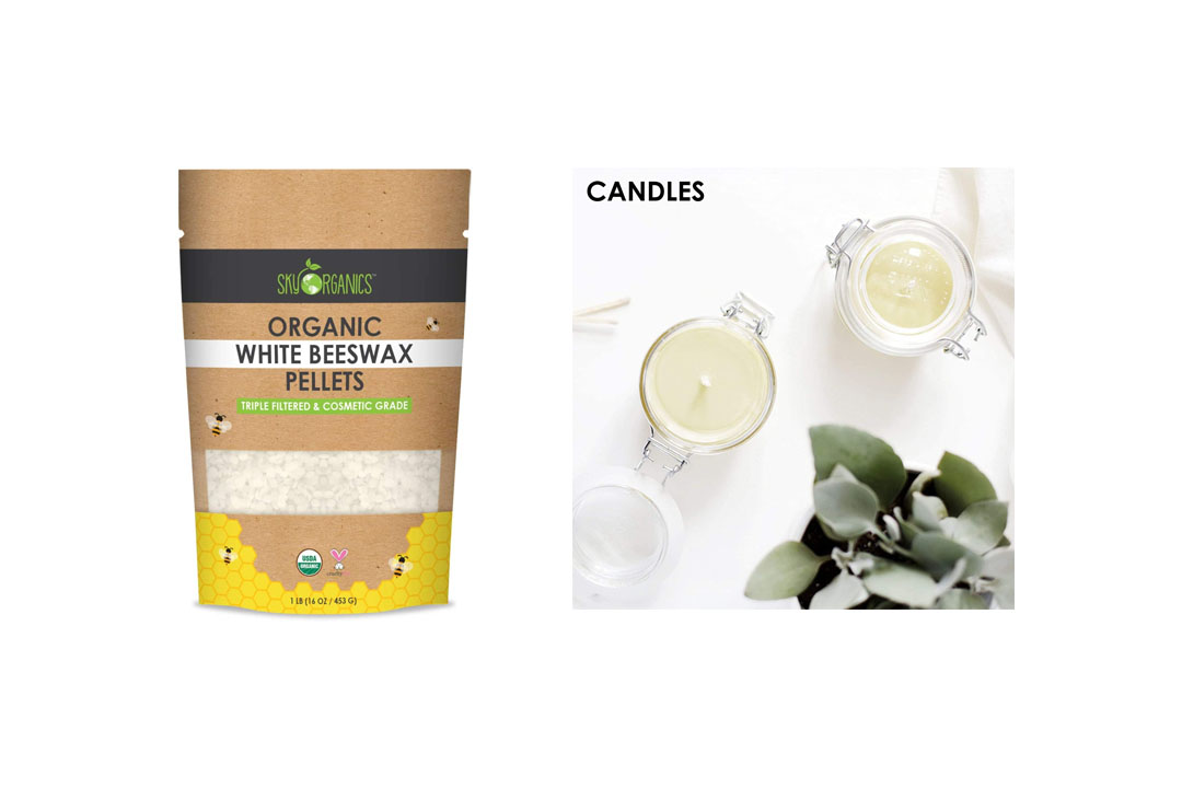 USDA Organic White Beeswax Pellets by Sky Organics (1lb)