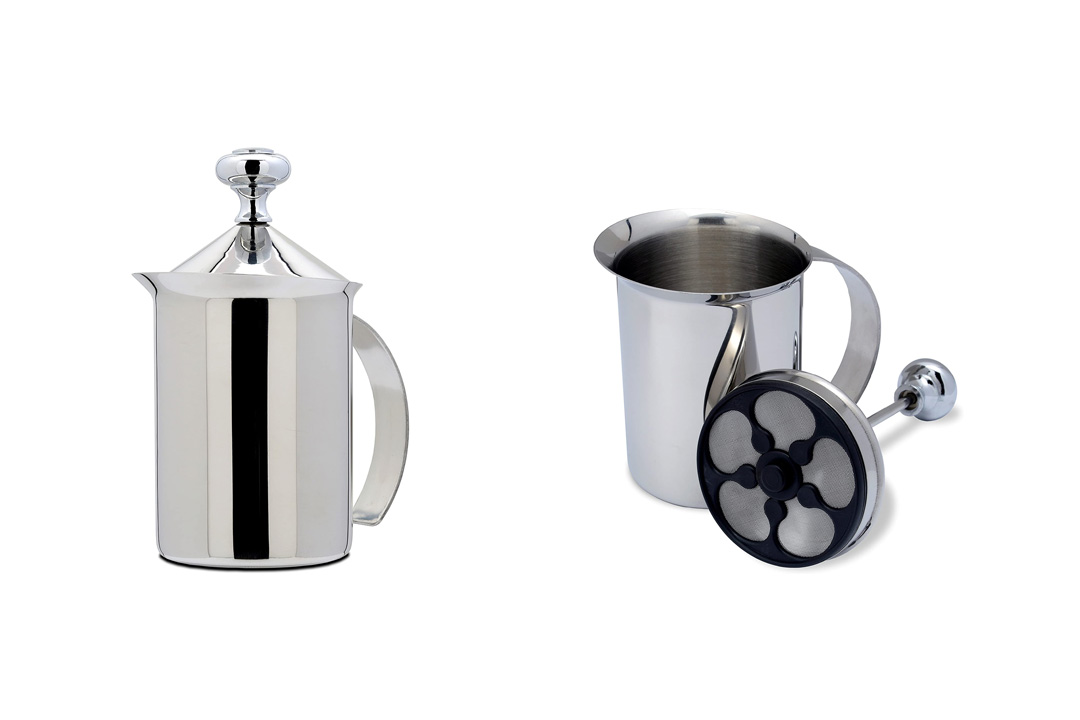 Bellemain Stainless Steel Hand Pump Milk Frother