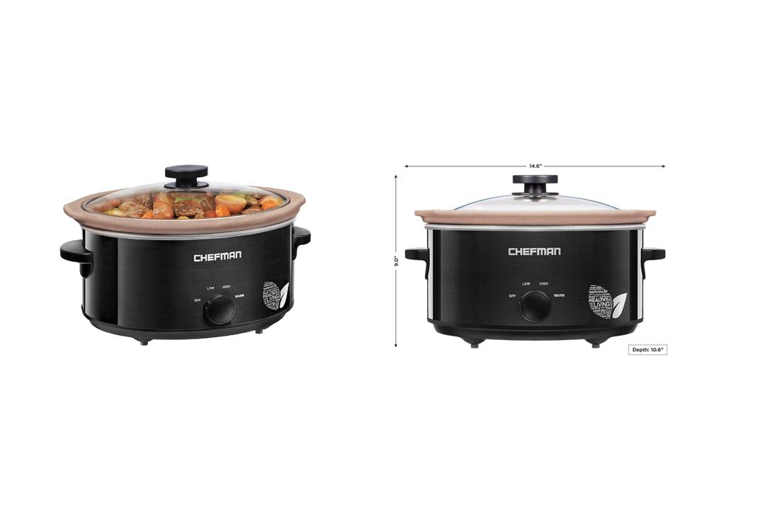 Chefman Slow Cooker, All Natural / Chemical-Free / Glaze-Free Pot, Stovetop and Oven Safe Crock