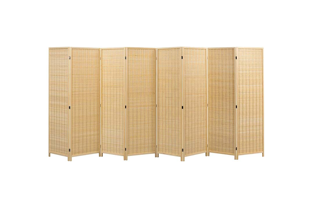 Decorative Freestanding Bamboo 4 Panel Hinged Privacy Screen