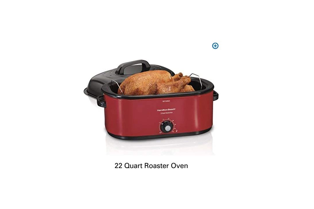 Hamilton-Beach-28-lb-Turkey-Roaster-Oven-red