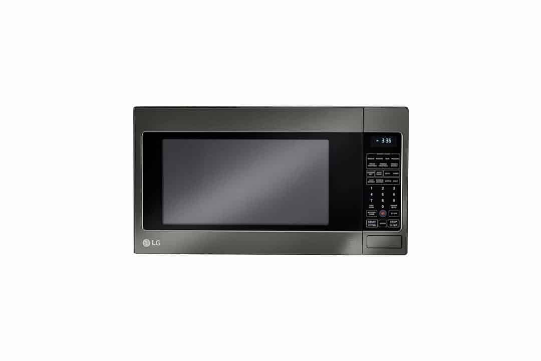 "LCRT2010BD 24"" 2 cu. Ft. Capacity Countertop Microwave with 1200 in Black Stainless Steel"