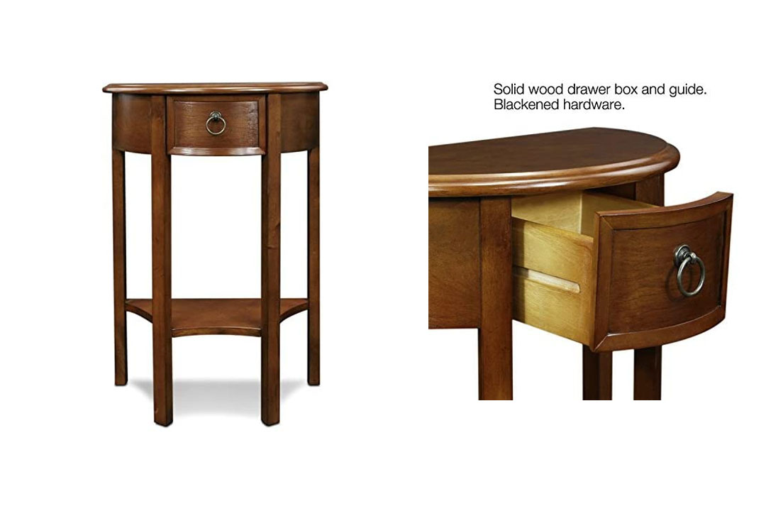 Leick Demilune Hall Stand Console TableVeneer