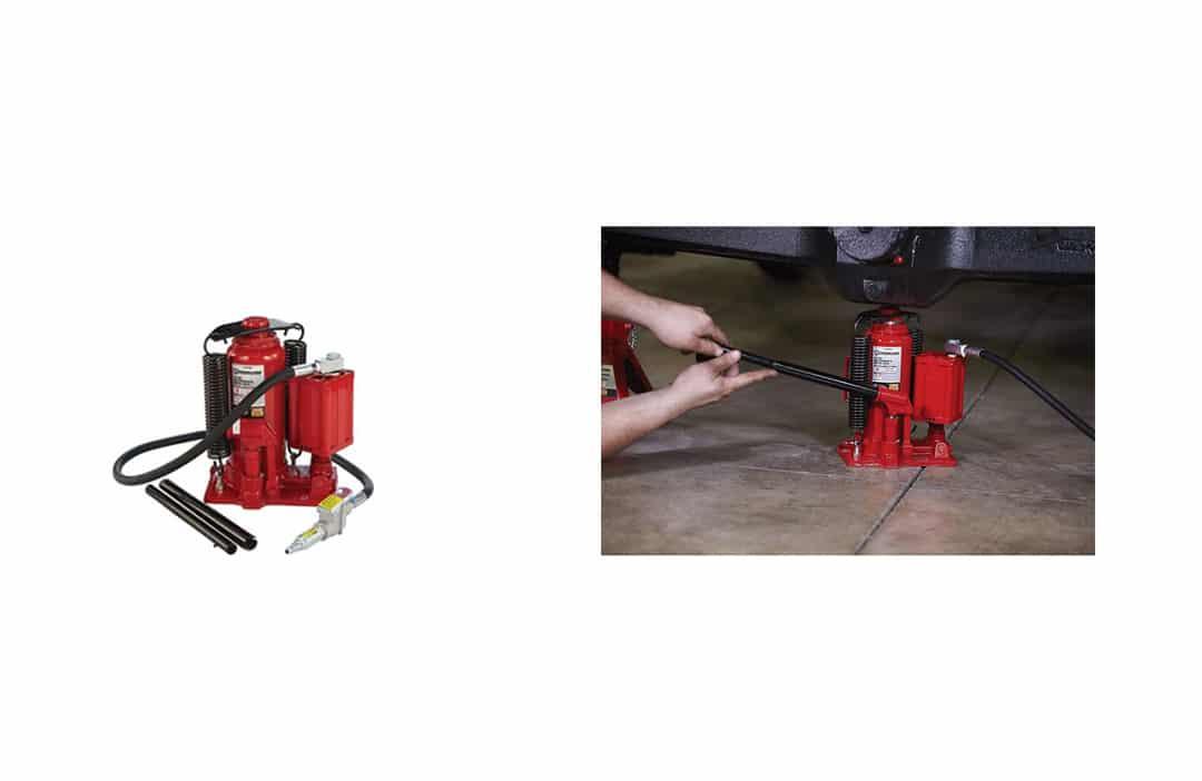 Strongway Air/Hydraulic Bottle Jack - 12-Ton Capacity, Lift Range