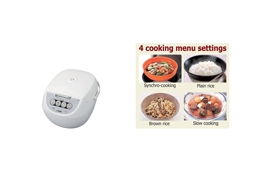 Tiger Corporation JBV-A10U-W 5.5-Cup Micom Rice Cooker with Food Steamer and Slow Cooker