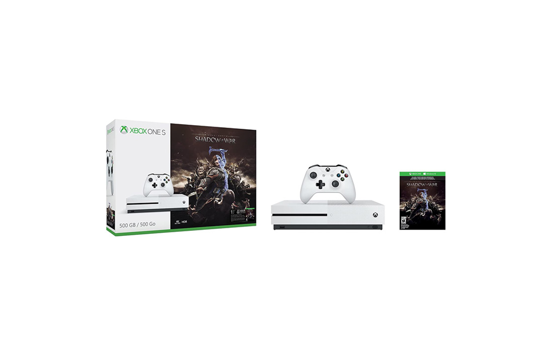 Xbox One S 500GB Console - Shadow of War Bundle