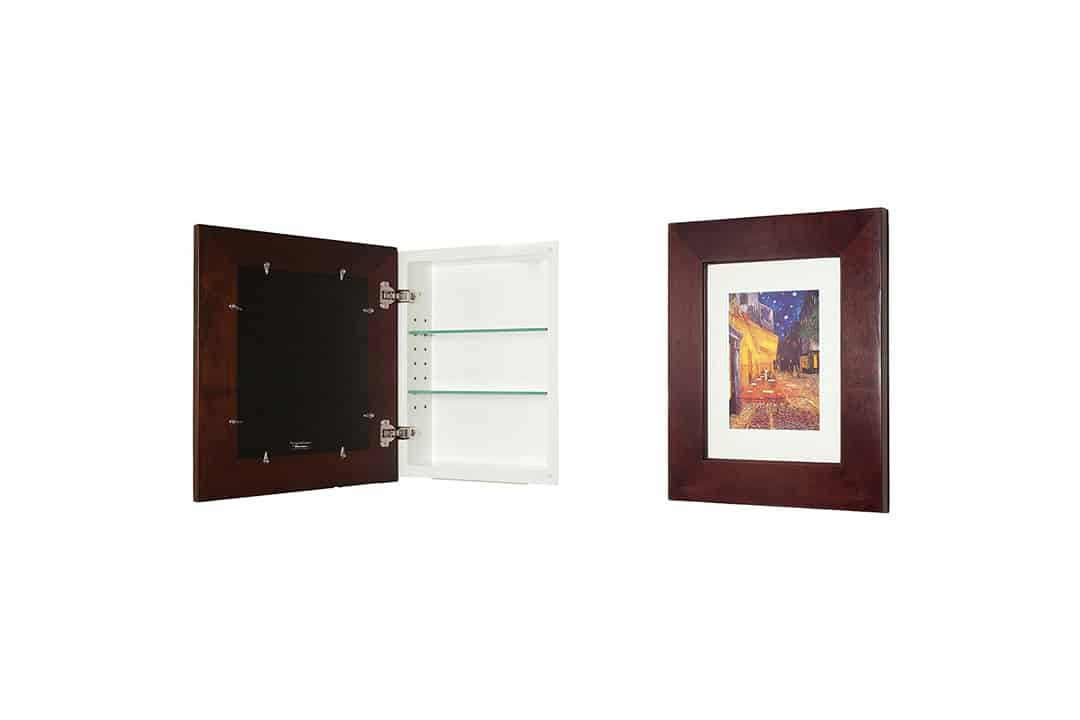 14x18 Espresso Concealed Cabinet (Large)