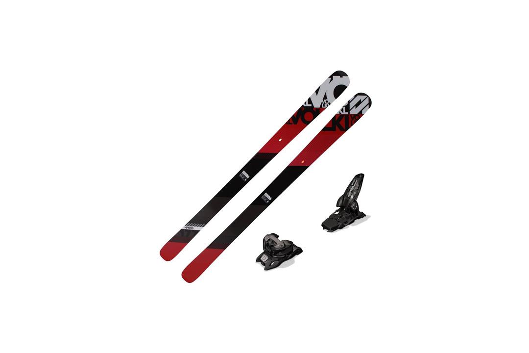 2016 Volkl Mantra Skis (European Edition) w/ Marker Griffon Bindings (White/Teal)