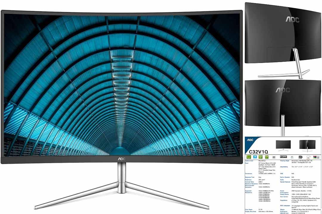 AOC C32V1Q 31.5 Full HD 1920x1080 Monitor