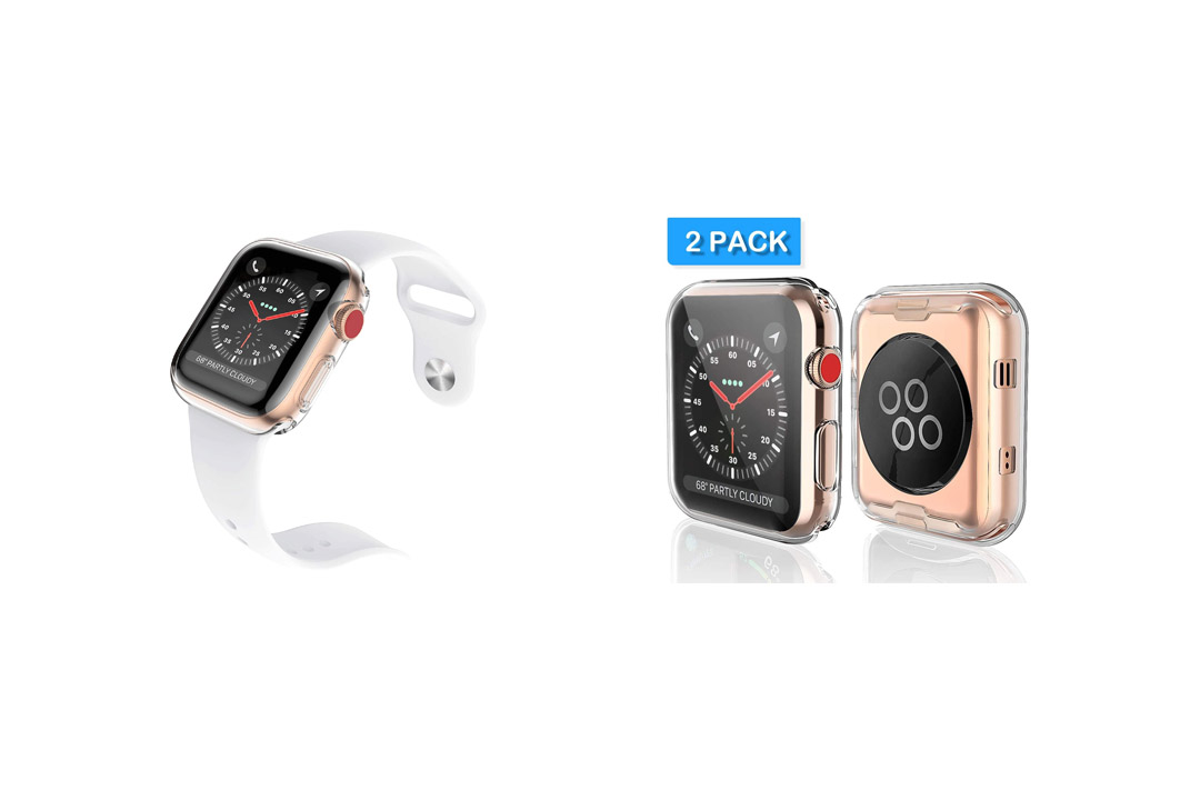 Apple watch 3 cases, Julk watch screen protector tpu all-around protective case