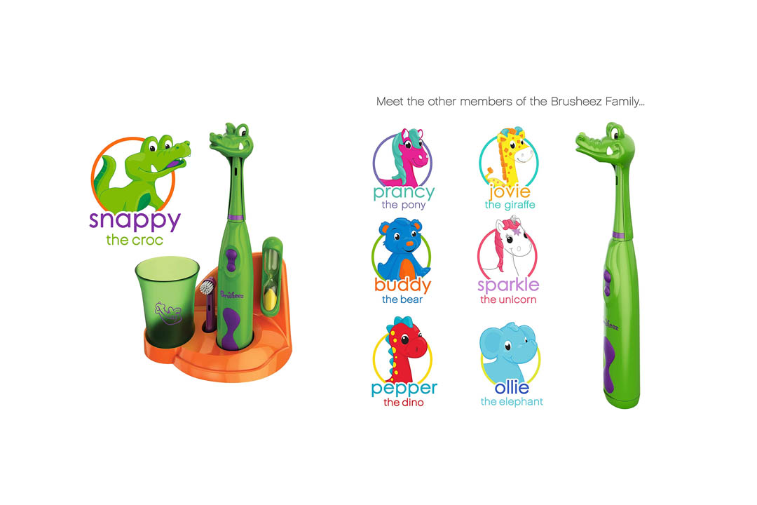 Brusheez Children's Electronic Toothbrush Set – Includes Battery-Powered Toothbrush