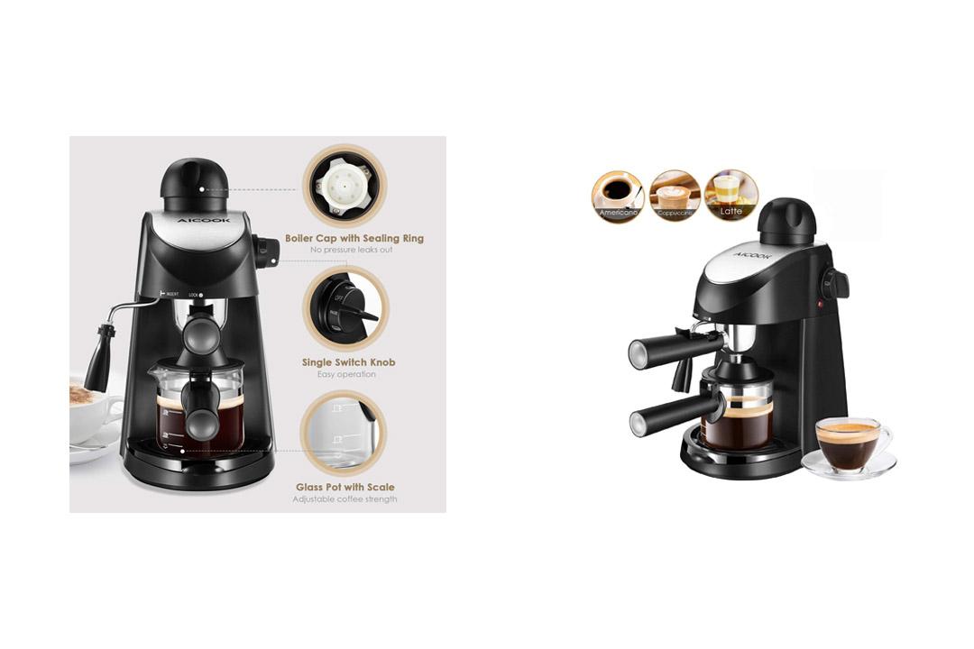 Espresso Machine, Aicook 3.5Bar Espresso Maker Milk Frother, Espresso Maker