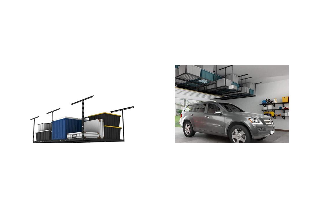 FLEXIMOUNTS 4x8 Overhead Garage Storage Rack Storage Rack